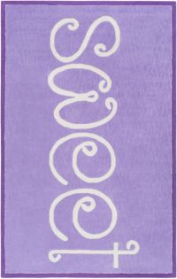 "Surya Skidaddle ""Sweet"" Hand Tufted 7'6 x 9'6 Area Rug in Bright Purple"
