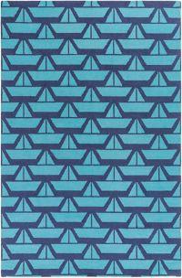 Surya Zeus 3' x 5' Hand Hooked Area Rug in Dark Blue