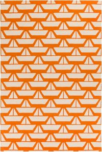Surya Zeus 2' x 3' Hand Hooked Accent Rug in Orange
