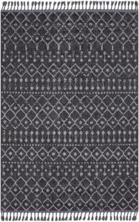 Surya Restoration Bohemian 3'11 x 5'7 Area Rug in Black/Grey