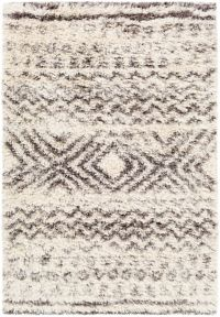 Surya Rhapsody 9' x 12' Shag Accent Rug in Cream/Grey