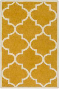 Surya Santorini Casual 5' x 7'6 Area Rug in Yellow