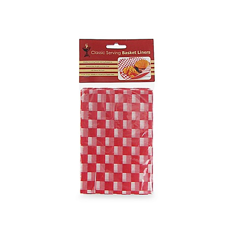 24-Count Barbecue Serving Basket Paper Liners