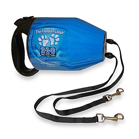 The Freedom Leash™ Two-Dog Retractable Leash