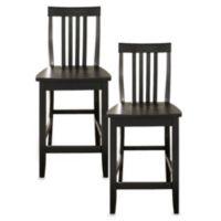 Crosley School House 24-Inch Barstools in Black (Set of 2)