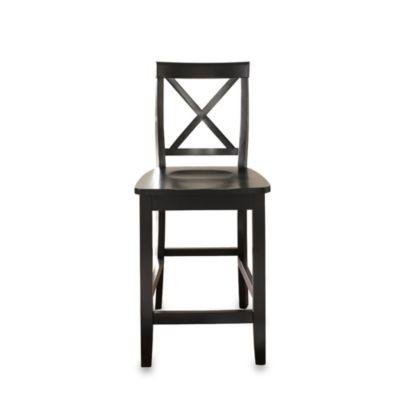 Crosley X Back 24 Inch Barstool In Black (Set Of 2)