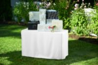 4-Foot Table Cover in White