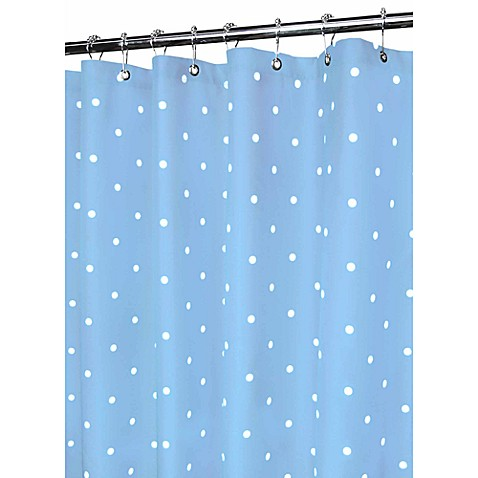 park b smith blue classic polka dot 72 inch x 72 inch watershed shower curtain bed bath. Black Bedroom Furniture Sets. Home Design Ideas