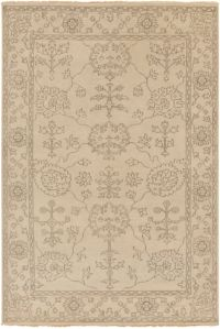 Surya Ainsley Classic 2' x 3' Hand-Knotted Accent Rug in Khaki