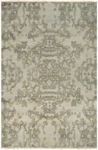 Surya Atmospheric Modern 6' x 9' Area Rug in Khaki/Dark Green