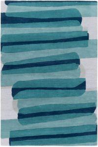 Surya Kennedy 5' x 7'6 Hand Tufted Area Rug in Emerald/Seafoam
