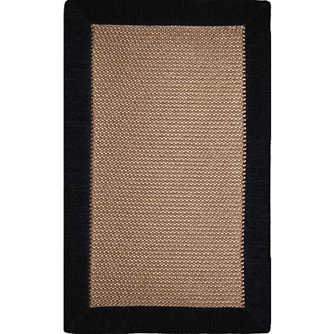 Microdry® Ultimate Luxury Border 2-Foot x 6-Foot Memory Foam Rug in Black
