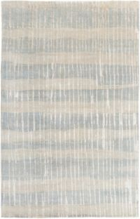 Surya Luminous Stripe 9' x 13' Area Rug in Teal/Tan
