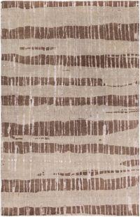 Surya Luminous Stripe 2' x 3' Accent Rug in Dark Brown/Taupe