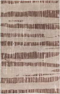 Surya Luminous Stripe 9' x 13' Area Rug in Dark Brown/Taupe