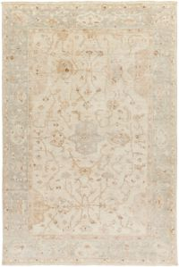 Surya Normandy Floral 2' x 3' Accent Rug in Wheat/Khaki