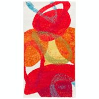 Surya Pippy Modern 2' x 3'7 Accent Rug in Red/Orange