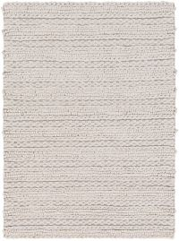 Surya Kindred 2' x 3' Handwoven Braided Accent Rug in Light Grey