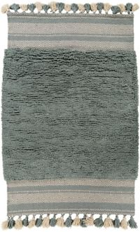 Surya Korva 8' x 10' Hand-Woven Shag Area Rug in Teal/Light Grey