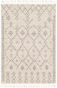 Restoration Bohemian/Global 2' x 3' Accent Rug in Cream/Grey