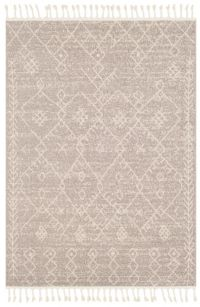 Restoration Bohemian/Global 2' x 3' Accent Rug in Taupe/Cream