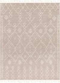 Restoration Bohemian/Global 7'10 x 10' Area Rug in Taupe/Cream