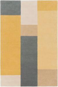 Surya Lina Modern 8' x 10' Area Rug in Wheat/Charcoal