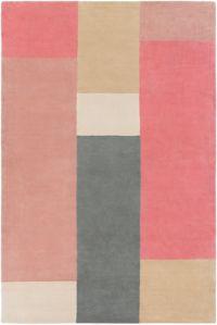 Surya Lina Modern 8' x 10' Area Rug in Rose/Khaki