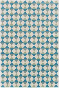 Surya Lina Geometric 8' x 10' Area Rug in Sky Blue/Sage