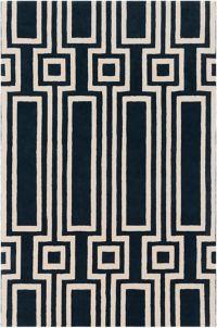 Surya Lina Geometric 8' x 10' Area Rug in Navy/Cream