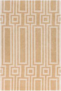 Surya Lina Geometric 2' x 3' Accent Rug in Tan/Cream