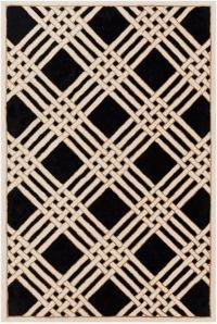Surya Intermezzo 5' x 7'6 Area Rug in Black/Cream
