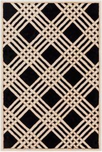 Surya Intermezzo 8' x 10' Area Rug in Black/Cream