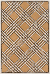 Surya Intermezzo 5' x 7'6 Area Rug in Cream/Tan