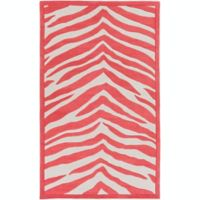 Leap Frog Animal Print 2 X 3 Accent Rug In Bright Pink