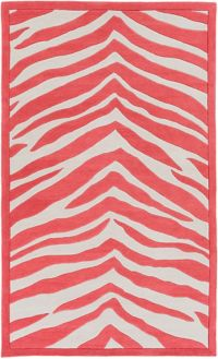 Leap Frog Animal Print 5' x 7'6 Area Rug in Bright Pink