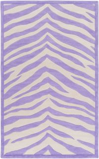 Leap Frog Animal Print 7'6 x 9'6 Area Rug in Violet/Ivory