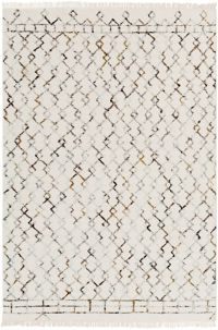 Surya Nettie Global 5' x 7'6 Area Rug in Cream/Tan