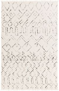 Surya Nettie Global Rug in Cream/Black