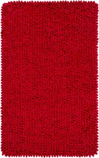 Surya Nestle Shag 5' x 7'6 Area Rug in Brick Red