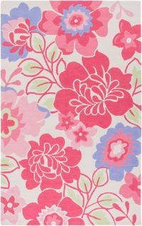 Surya Peek-A-Boo Floral 7'6 x 9'6 Area Rug in Pink