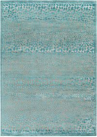 Surya Basilica Animal 7'6 x 10'6 Area Rug in Teal