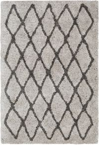 Surya Koryak Global 5' x 7'6 Hand-Tufted Area Rug in Grey/Black