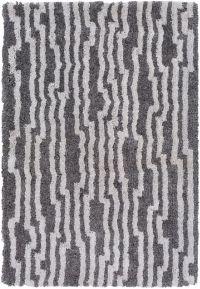 Surya Koryak Geometric 5' x 7'6 Hand-Tufted Area Rug in Ivory