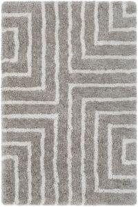 Surya Koryak Square 5' x 7'6 Hand-Tufted Area Rug in Grey/Ivory