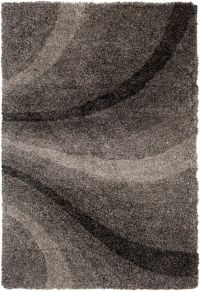 Surya Koryak Waved 2' x 3' Hand-Tufted Area Rug in Black/Light Grey