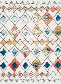 Surya Moroccan Shag Bohemian 2' x 3' Accent Rug in Blue/White