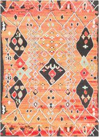 Surya Moroccan Shag 5'3 x 7'3 Area Rug in Pink/Orange
