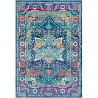Surya Aura Silk 5'3 x 7'6 Area Rug in Blue