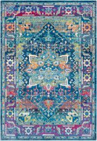 Surya Aura Silk 7'10 x 10'3 Area Rug in Blue